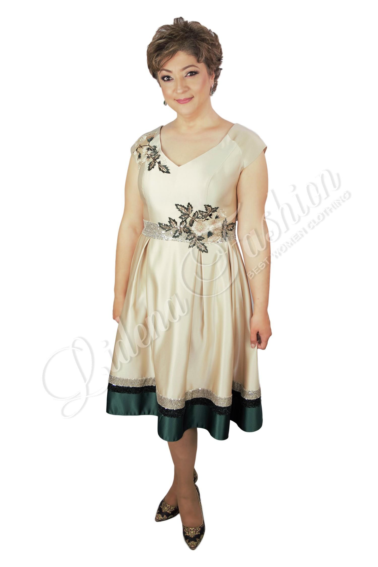 Rochie de gală crem