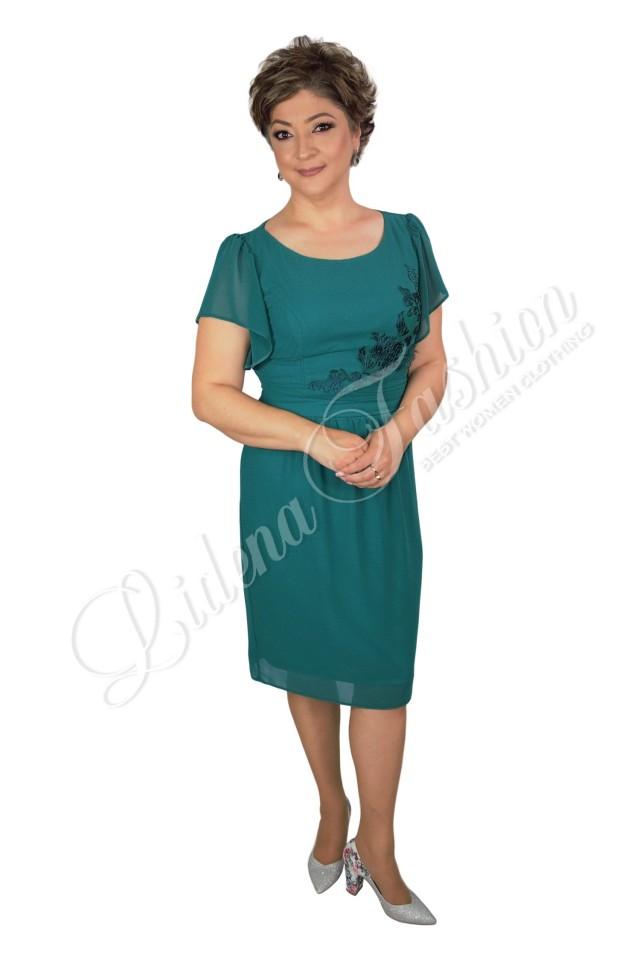 Rochie din voal verde Aniela