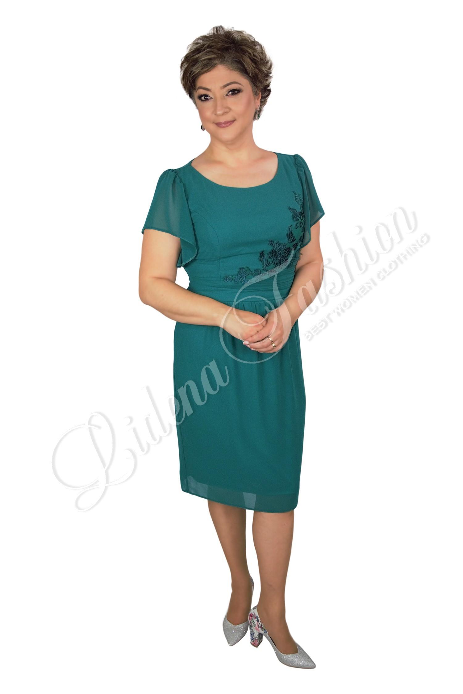 Rochie din voal verde