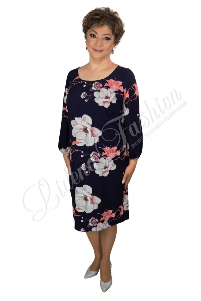 Rochie cu imprimeu floral Crina