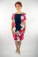 Rochie elegantă din voal imprimat
