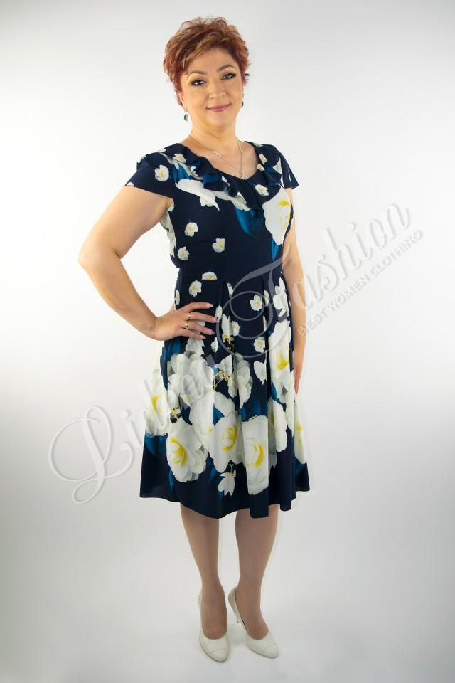 Rochie din voal imprimată floral Ilinca