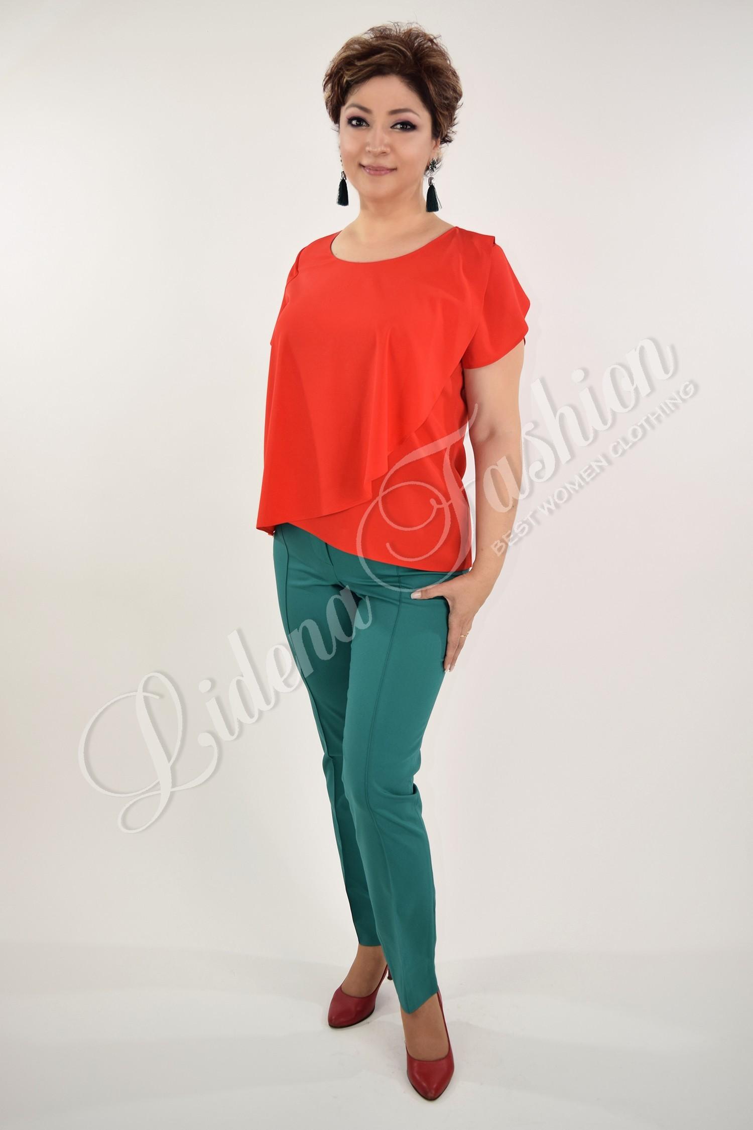 Bluză Eli din mătase roșie